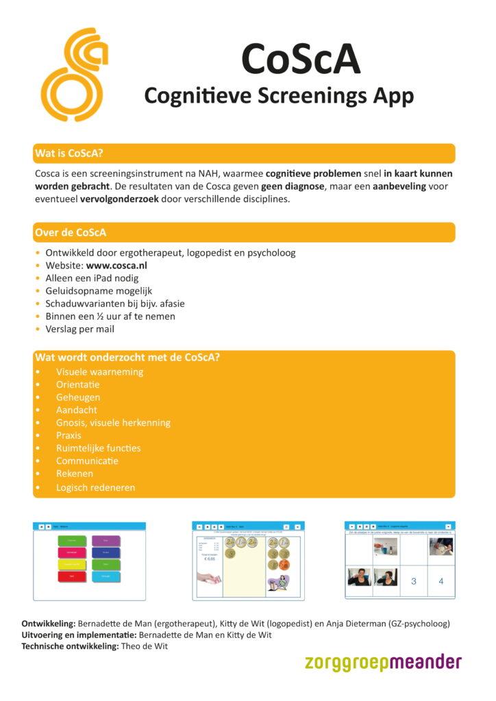CoScA Cognitieve Screenings App